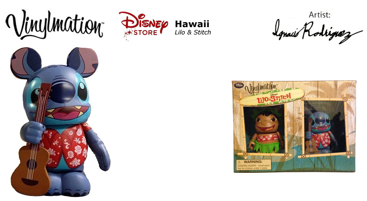 "Disney 3/"" Vinylmation Lilo and Stitch Combo Set Disney Store Exclusive New"
